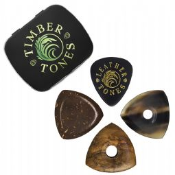 Timber Tones Bass Guitar Tin of 4 Guitar Picks